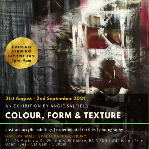 Opening Night | Colour, form & texture | Angie Salfield Exhibition