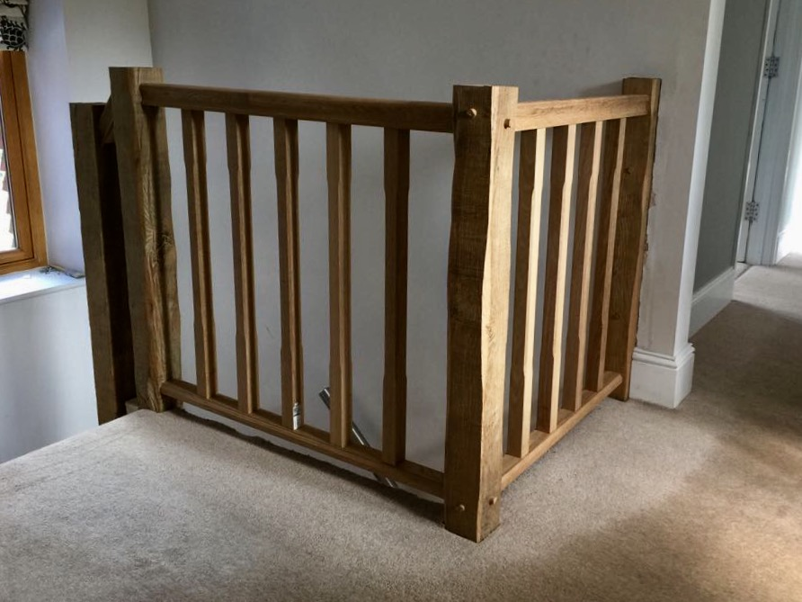 New …Old oak banister, rails and spindles to suit the age of this property