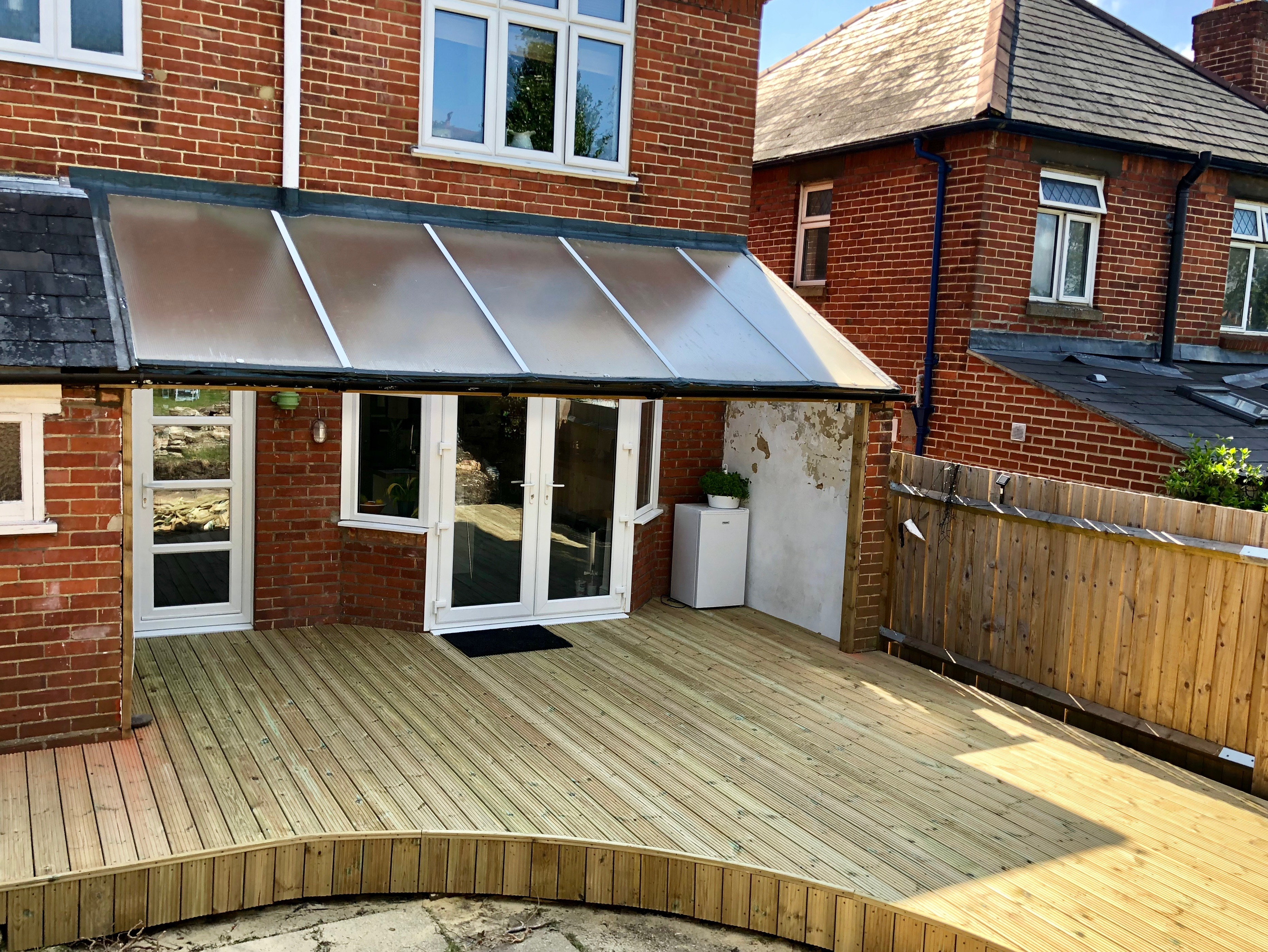 Southampton Softwood Decking and Modernising the Lean to Roof