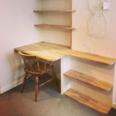 Custom Desk and Shelves