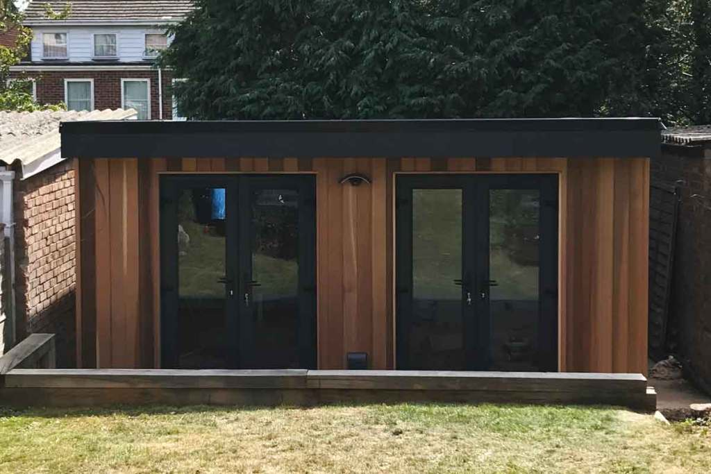 Front Cladded Garden Room