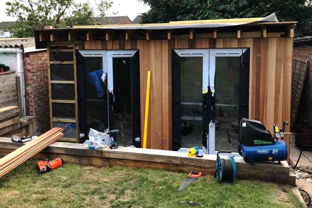 Garden Room in progress