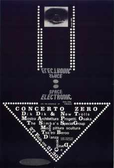 9999, poster for Space Electronic's nightclub
