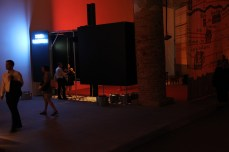 The view of Space Electronic from inside the Arsenale.