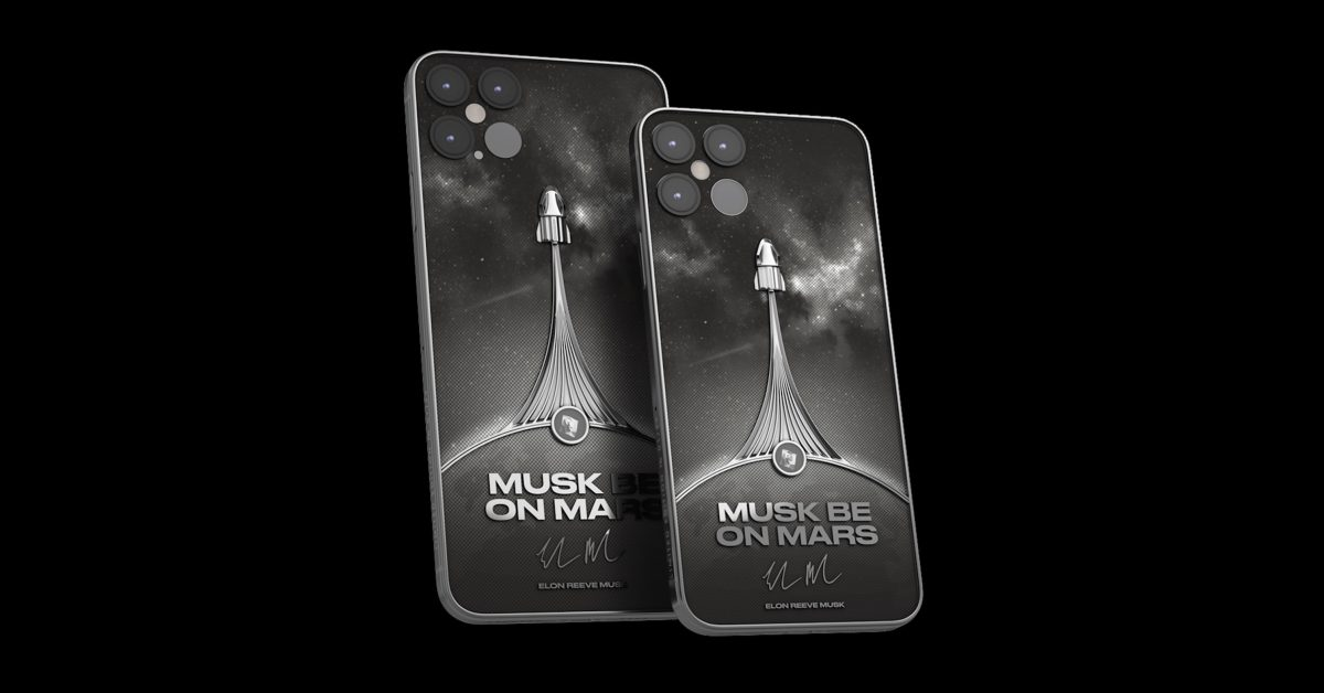 Musk be on Mars: Luxury brand taking pre-orders for $5,000 SpaceX iPhone 12 Pro concept - Space Explored