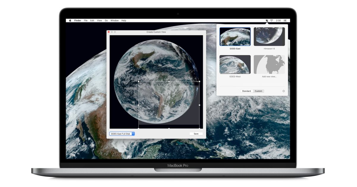 Downlink uses real-time satellite imagery to create gorgeous live wallpapers for Mac - Space Explored
