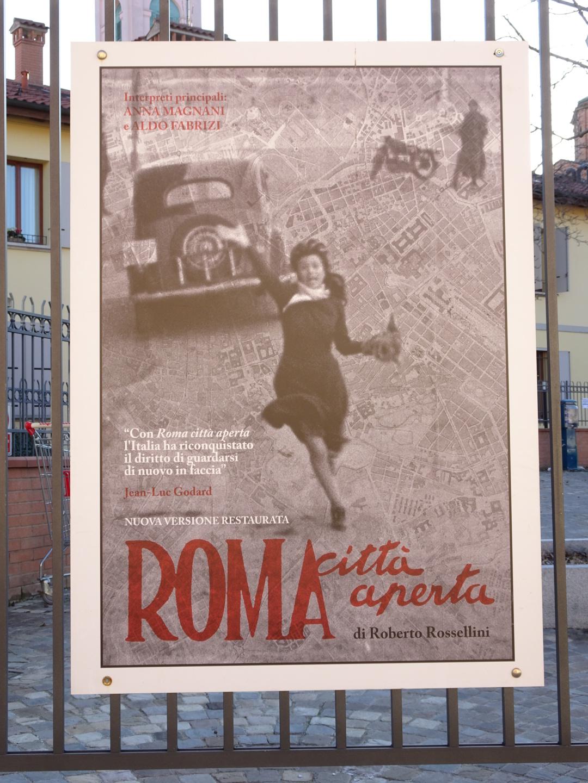 Rome ville ouverte, une belle affiche cartographique