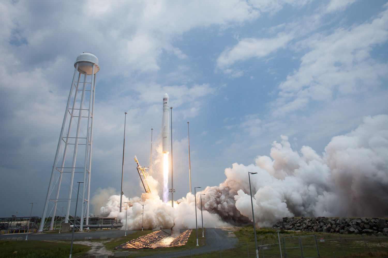 An Antares rocket lifts off from Wallops Island, Virginia, in July 2014. Credit: NASA/Bill Ingalls
