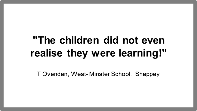 Testimonial from West Minster School of Kids in Space