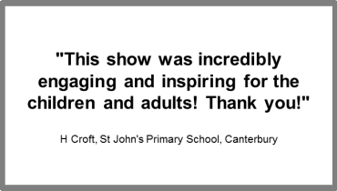 Kids in Space review from St John's primary school Canterbury