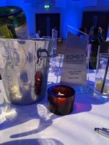 SPACE's Charity of the Year Award from the ADHD Foundation