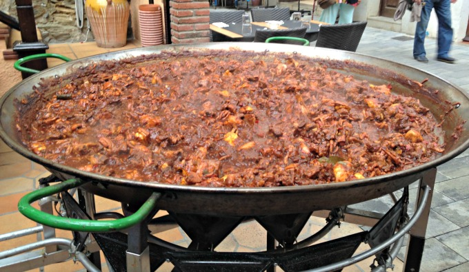 A giant Catalan Paella on the Costa Brava