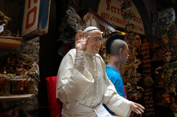 the pope, naples