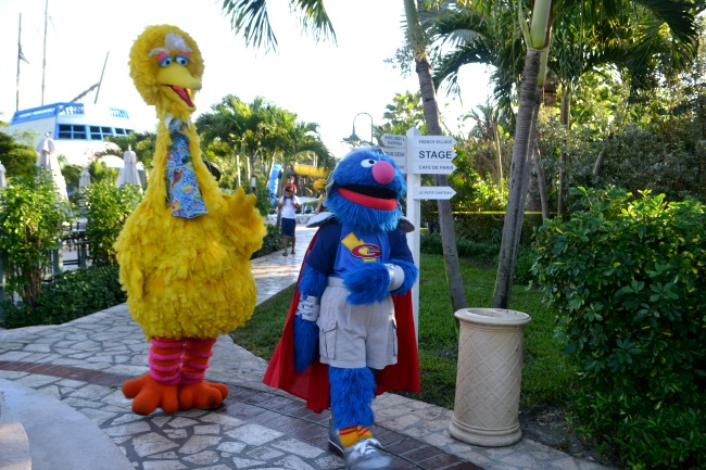 Sesame Street characters at Beaches, Turks and Caicos