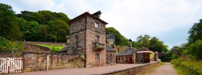 Stay at the disused Alton Station in Staffordshire while visiting Alton Towers theme park