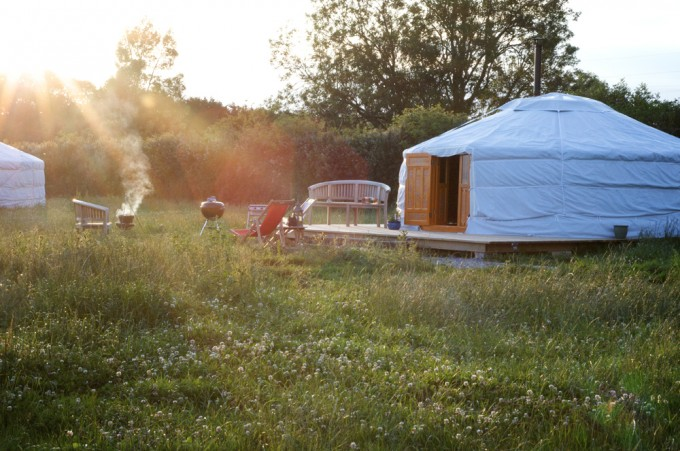 Somerset Yurts, the perfect flexible space for family glamping, gettting back to nature and there is even a farm tour