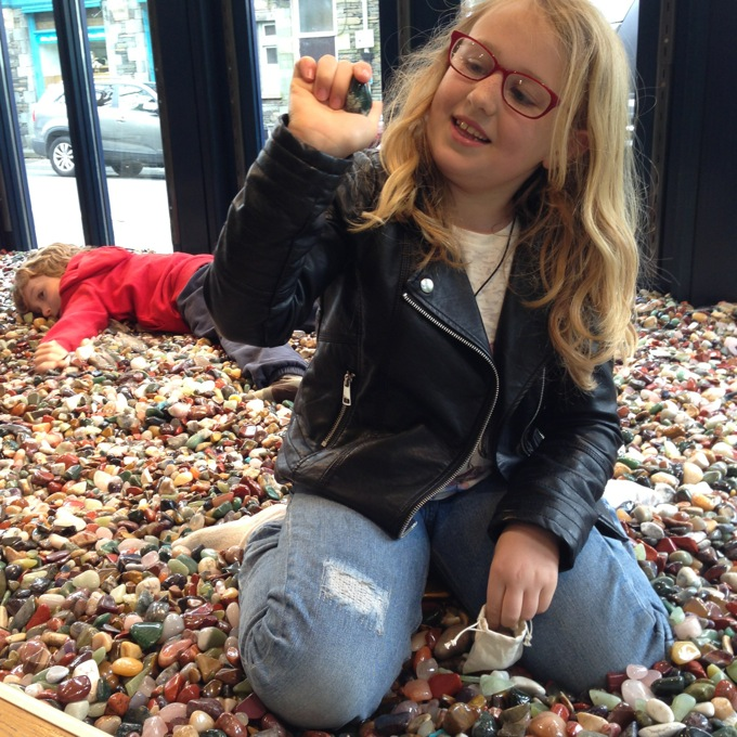 Lake District family days out and adventures - Gem Pit in the Rock Shop, Ambleside