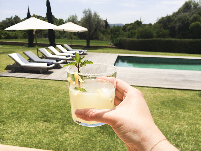 Lemonade by the pool at Scott Dunn villa