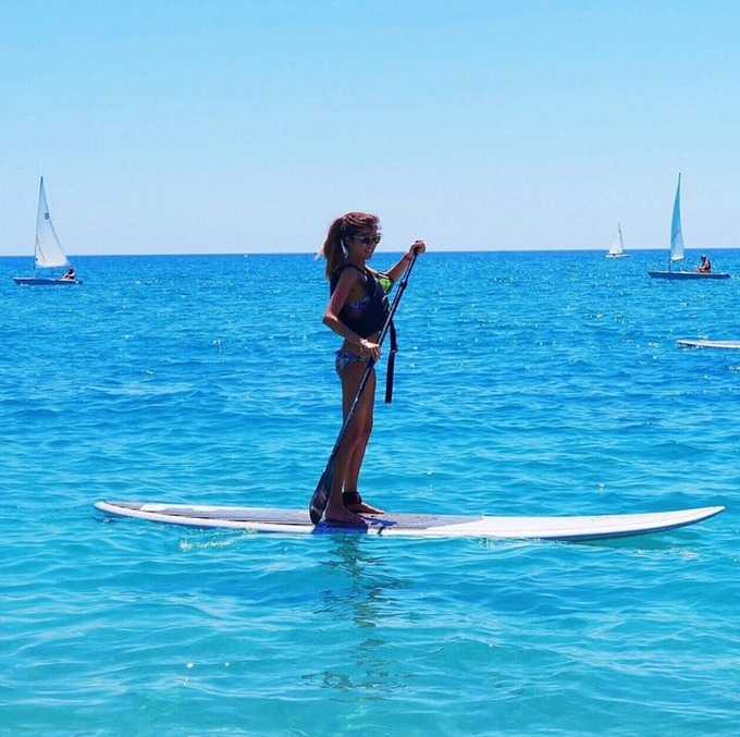 Ever tried paddle boarding? Katie shows how it's done on her Mark Warner holiday #mwmoments #spaceinyourcase