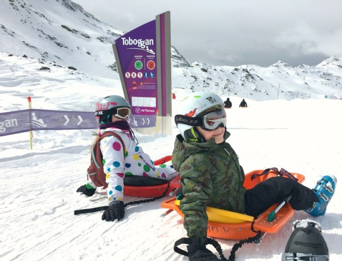 Val Thorens resort guide for families: at 6km the Luge is the longest toboggan run in Europe