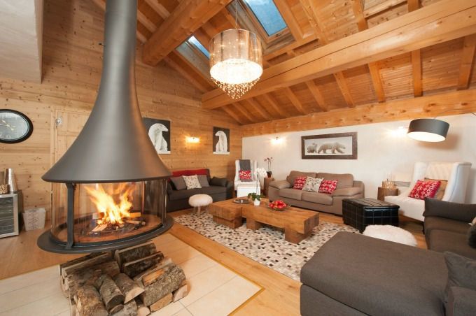 Living area in Chalet La Marquise in Sainte Foy.