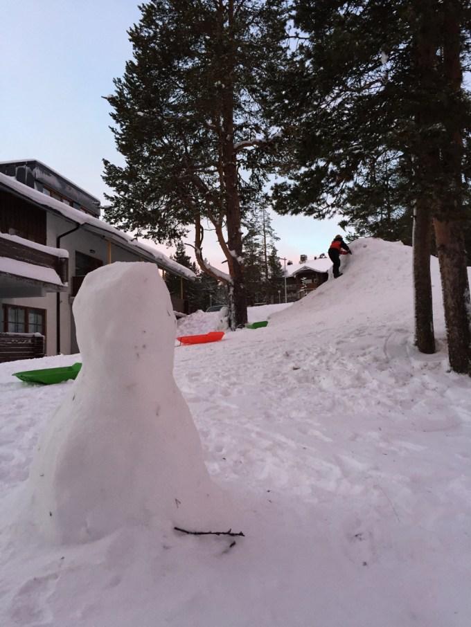 Do you wanna build a snowman? Santa's Hotel, Saariselka with Santa's Lapland