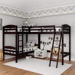 Bunk Beds For Kids Teens Home Garden New Modern Strong White Triple Twin Bunk Bed Children Metal 3 Sleeper Kids Frame Topografiapv Cl
