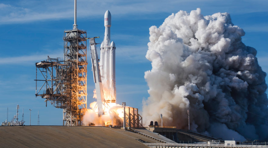 The Inaugural Spacex Falcon Heavy Launches From Complex 39a At The Kennedy Space Center Florida On Feb 6 2018 Credit Ron Palmisano Spacenews
