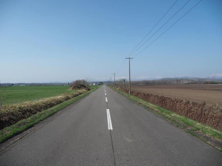 大樹町周辺の道路は真っ直ぐ