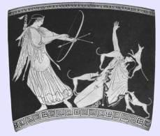 Artemide fa sbranare vivo Atteone dai suoi stessi segugi, 470 a.C.