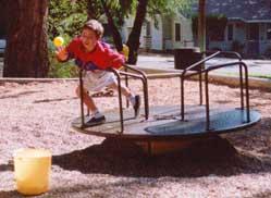 Boy on merry-go-round