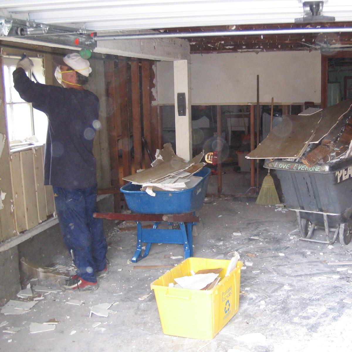 gutting the basement