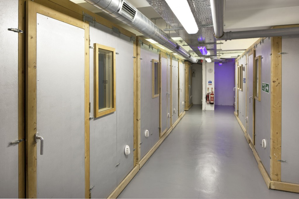 Image of soundproof rehearsal pods at ACM Guildford