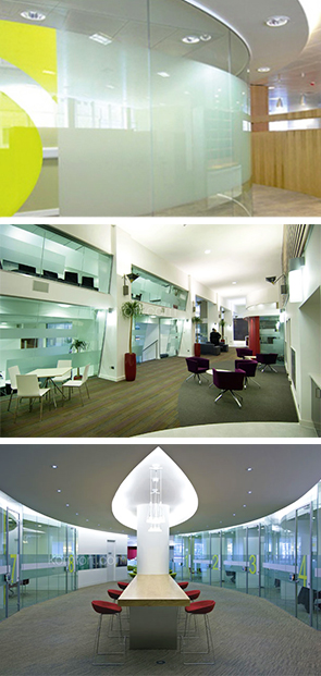 Images of glazed partition office wall installations