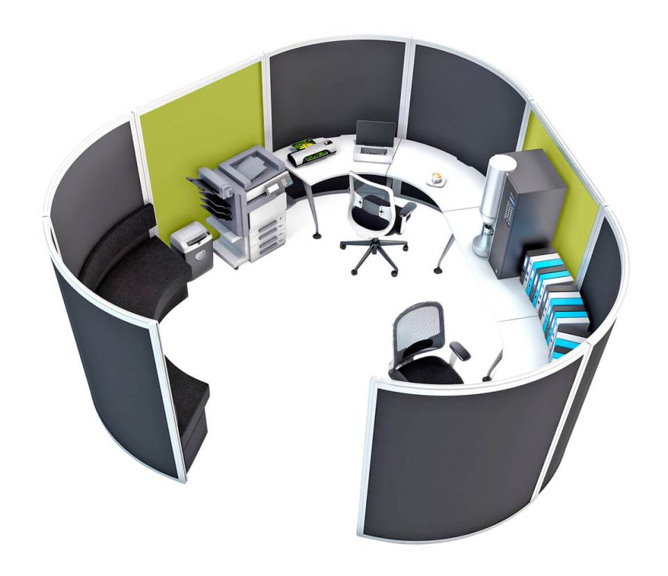 Image of the Orangebox Cove office divider system
