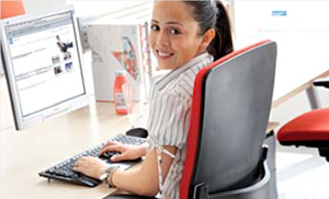 Image showing a sedentary office worker