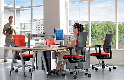 Image showing different types of users need different office desk ergonomics