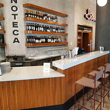 Restaurant interior Enoteca