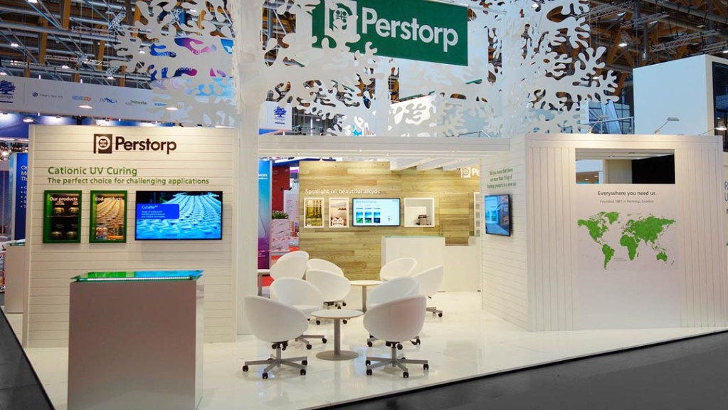 Designed exhibition stand for Perstorp