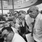 Von Braun, Mueller and Rees watching SA-6