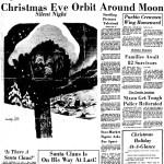 Apollo 8 Christmas Eve around the Moon