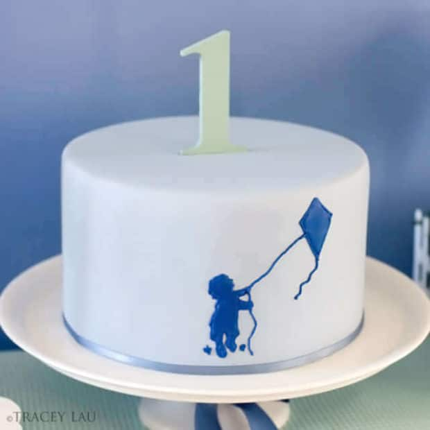 Boys Kite Themed Birthday Party Cake Food