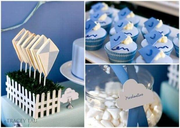 Boys Kite Themed Birthday Party Cupcake Ideas