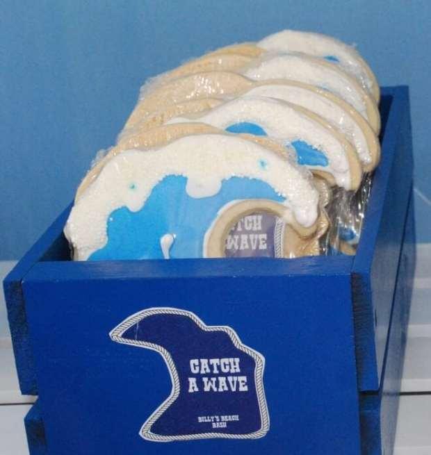 Boys Beach Party Themed Birthday Cookie Ideas