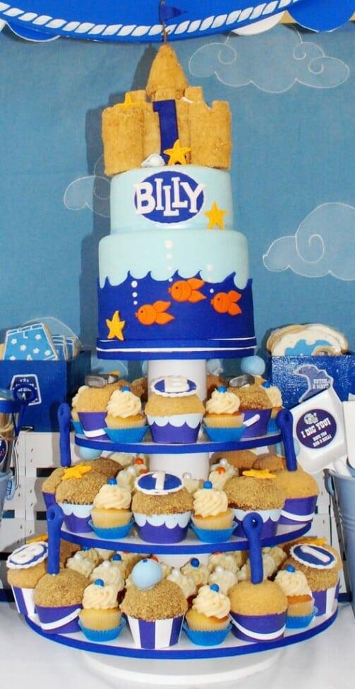 Boys Beach Party Themed Birthday Cupcake Party Food IDeas