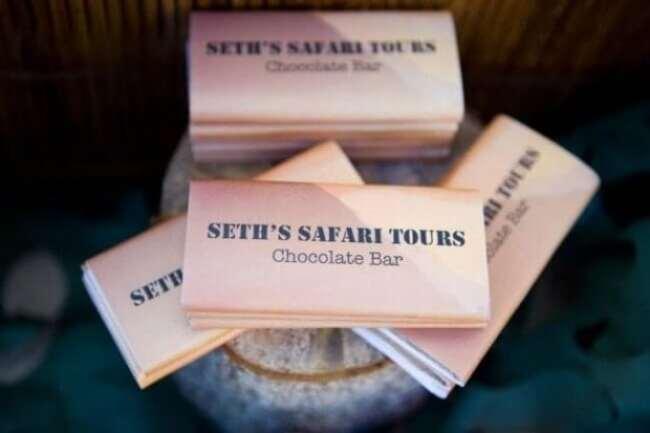 Boys Safari Themed Birthday Party Candy Bar Wrappers