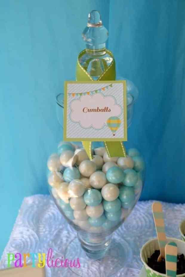 Boys Hot Air Balloon Party Food Candy Ideas