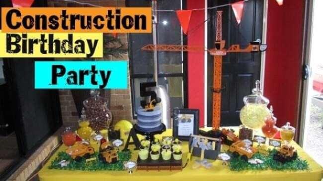 Construction Truck Birthday Party Dessert Table