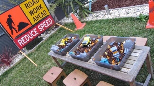 Construction Themed 5th Birthday Party Spaceships And Laser Beams