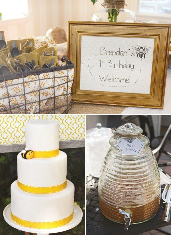 Bee Themed First Birthday Boy Party Ideas Spaceships